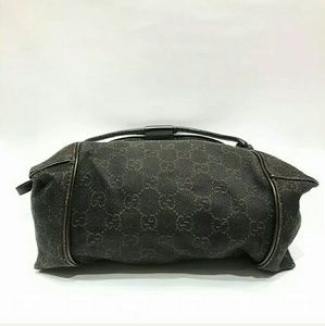 Gucci Bags - Auth Gucci dark brown small hobo bag